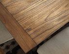 Medium Brown Tripton Dining Room Table View 3