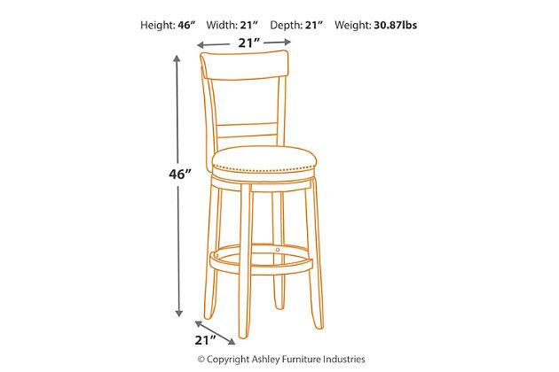 Drewing Bar Height Bar Stool, , large