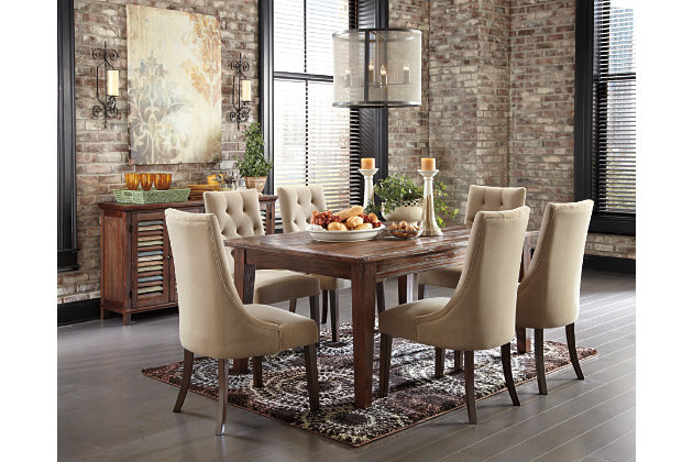 Light Brown Mestler Dining Room Chair View 3