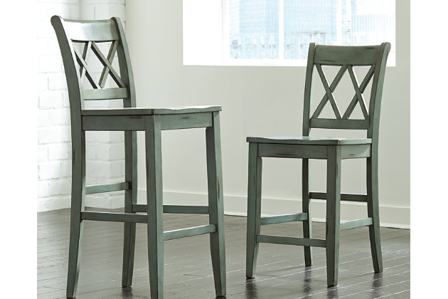Mestler Pub Height Bar Stool (Set of 2) by Ashley HomeSto...