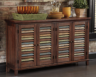 Mestler Dining Room Server, Dark Brown, rollover