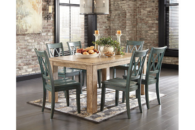 Bisque Mestler Dining Room Table View 4Mestler Dining Room Table   Ashley Furniture HomeStore. Farmhouse Dining Table Ashley Furniture. Home Design Ideas