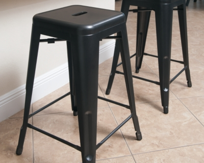 Ashley Pinnadel Counter Height Bar Stool (Set of 4), Gray