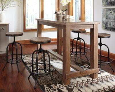 Ashley Pinnadel Dining Room Pub Table, Light Brown
