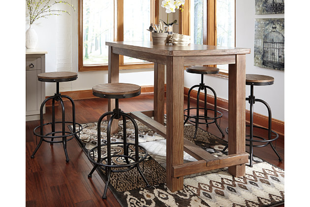 Pinnadel dining room bar table ashley furniture homestore pinnadel dining room bar table large watchthetrailerfo