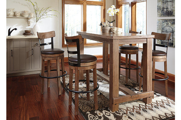 pinnadel dining room pub table | ashley furniture homestore