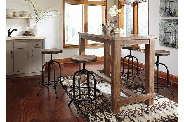 Pinnadel Pub Height Bar Stool Ashley Furniture Homestore