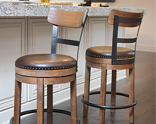 Large Pinnadel Counter Height Bar Stool Rollover