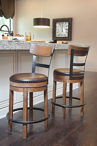 Pinnadel Counter Height Bar Stool Ashley Furniture Homestore
