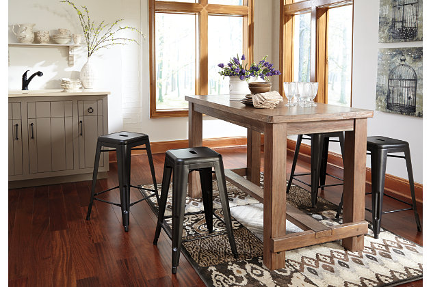 pinnadel counter height dining room table ashley