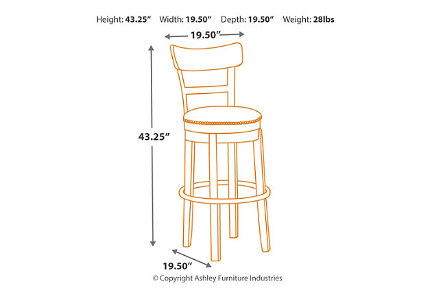 Pinnadel Bar Height Bar Stool Ashley Furniture Homestore