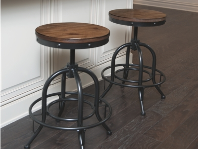 Pinnadel Counter Height Bar Stool (Set of 2) by Ashley Ho...