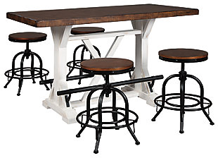 Valebeck Counter Height Dining Table and 4 Barstools, , rollover
