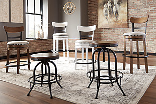 Valebeck Bar Height Bar Stool, White, large
