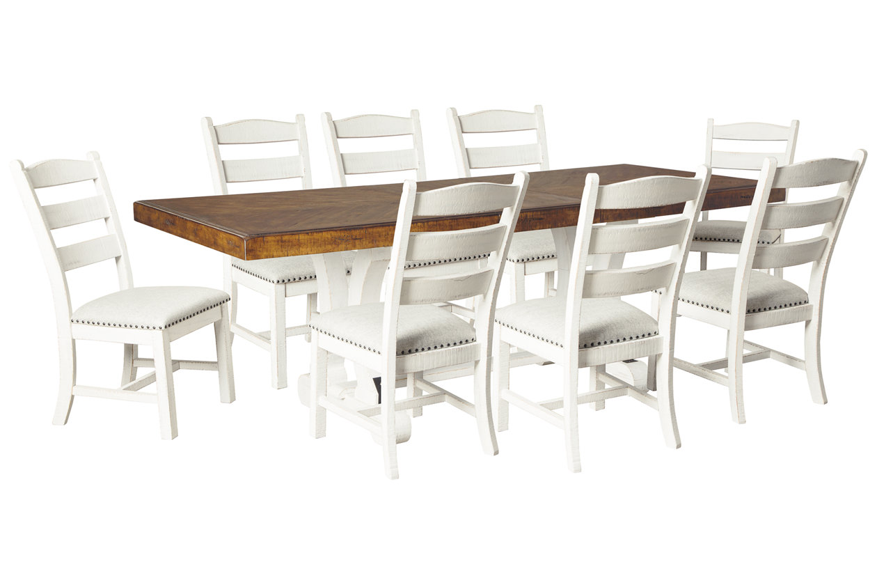 Valebeck Dining Table And 8 Chairs Set Ashley Furniture Homestore