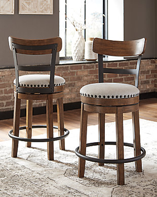 Valebeck Counter Height Bar Stool, Brown, rollover