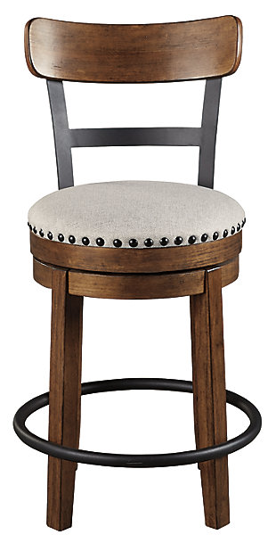 Valebeck Counter Height Bar Stool, Brown, large