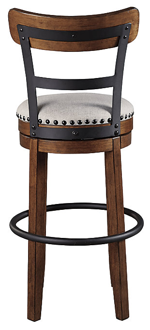 Valebeck Bar Height Bar Stool, Brown, large