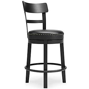 Valebeck Counter Height Bar Stool, Black, large