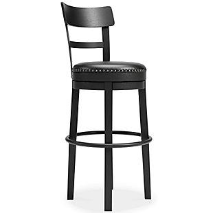 Valebeck Bar Height Bar Stool, Black, large