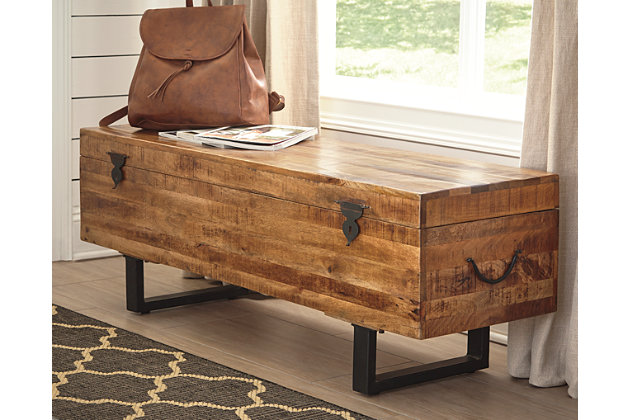 Glosco Storage Bench Ashley Furniture Homestore