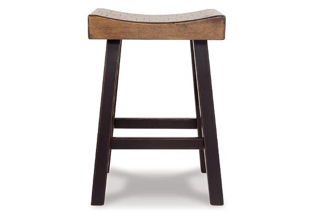 Glosco Counter Height Bar Stool, Medium Brown/Dark Brown, large