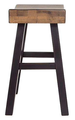 Glosco Counter Height Bar Stool, Medium Brown/Dark Brown, large