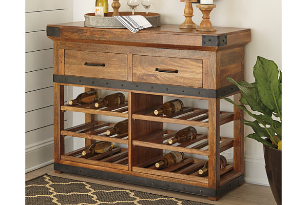 Glosco Wine Cabinet Ashley Furniture Homestore