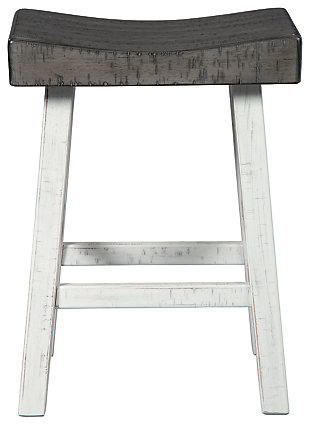Glosco Counter Height Bar Stool, Brown Gray/Antique White, large