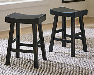 Glosco Counter Height Bar Stool, Black, large