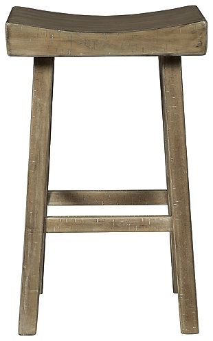 Glosco Pub Height Bar Stool, Natural, large