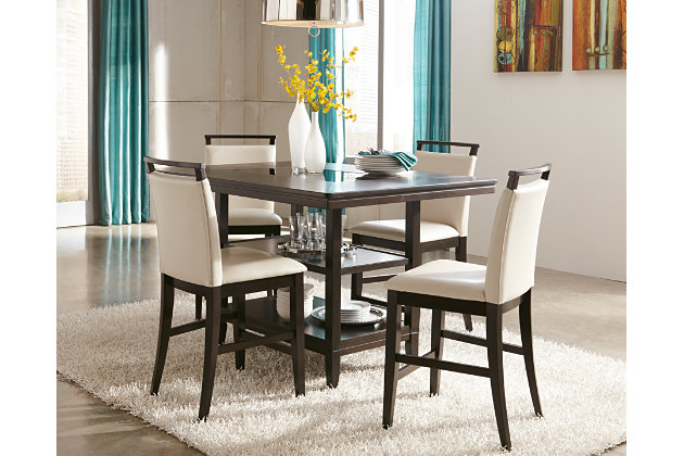 dark brown trishelle counter height dining room table view 2 - Dining Room Table Height