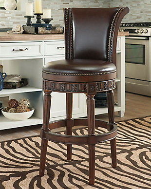 ashley furniture bar stools North Shore Bar Height Bar Stool | Ashley Furniture HomeStore ashley furniture bar stools