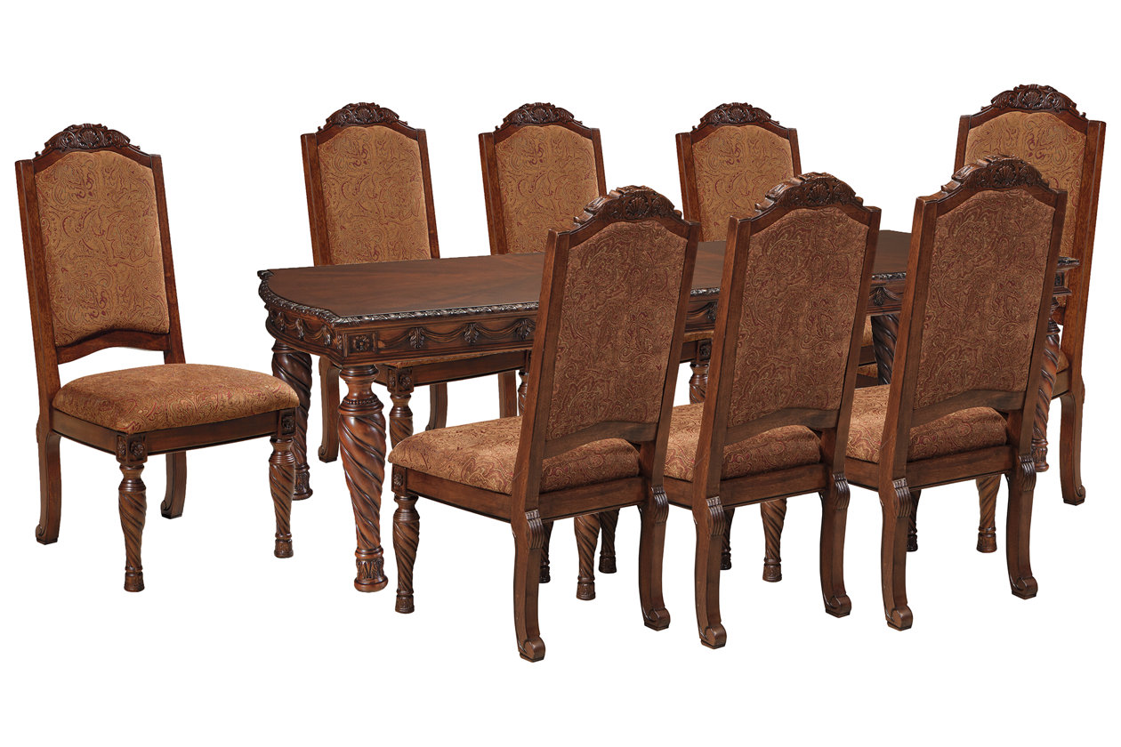 North Shore Dining Table And 8 Chairs Set Ashley Furniture Homestore