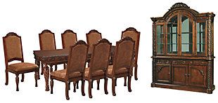 North Shore Dining Table and 8 Chairs with Storage, , large