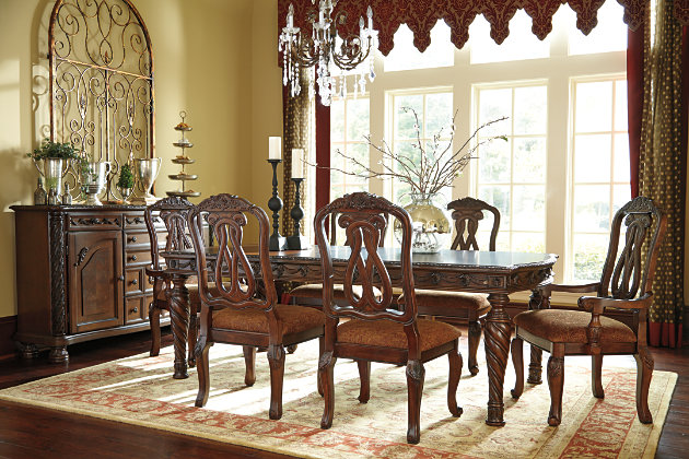 Dark Brown North Shore Dining Room Table View 8
