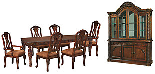 North Shore Dining Table and 6 Chairs with Storage, , large