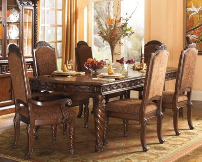 Dining Room Table Dark Brown Shore Product Photo 526