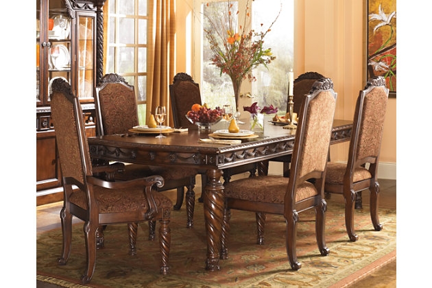 Delightful Dark Brown North Shore Dining Room Table View 1 Part 2