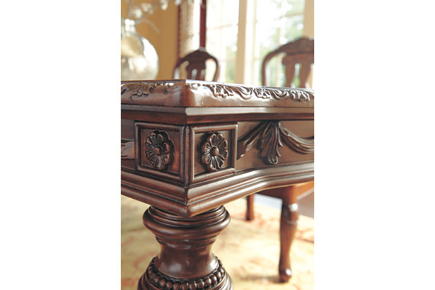 Dark Brown North Shore Dining Room Table View 6