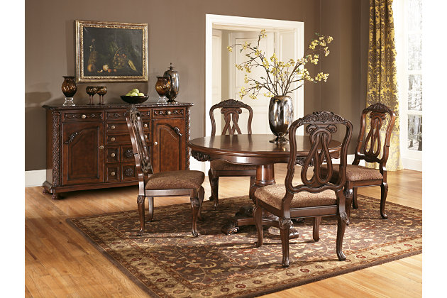 Dark Brown North Shore Dining Room Server View 4 Part 8
