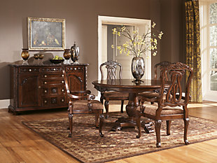 Dark Brown Dining Room Furniture Shown On A White Background