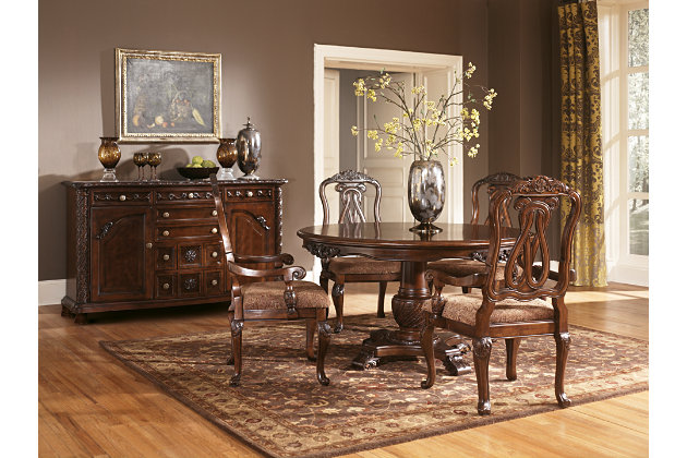 Awesome Dark Brown North Shore Dining Room Chair View 4 Part 27