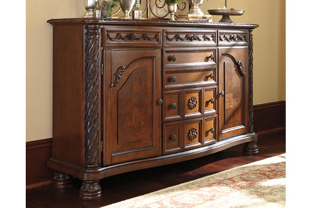 Dark Brown North Shore Dining Room Server View 1