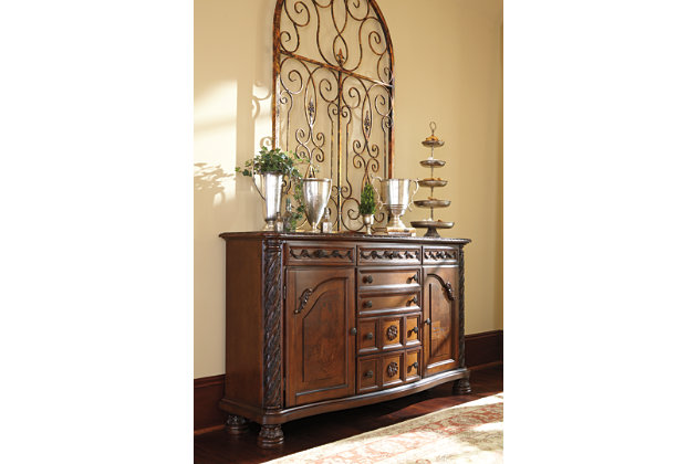 North shore dining room server ashley furniture homestore for Dining room server