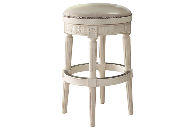 Crenlam Pub Height Bar Stool by Ashley HomeStore, White