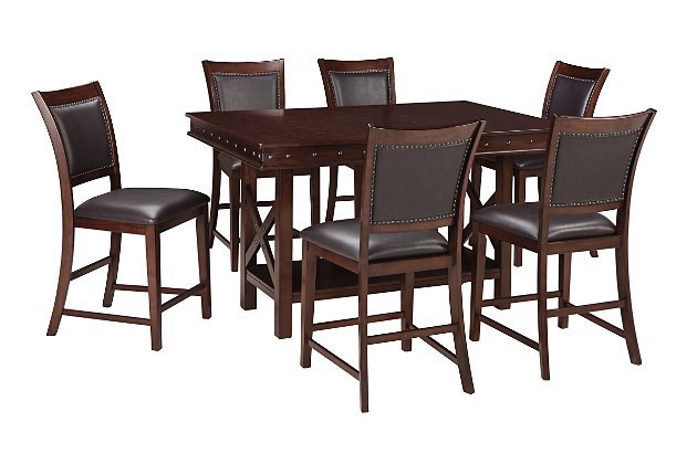 Collenburg Counter Height Dining Table and 6 Barstools, , large