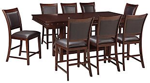 Collenburg Counter Height Dining Table and 8 Barstools, , large