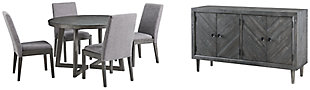 Besteneer Dining Table and 4 Chairs with Storage, , large