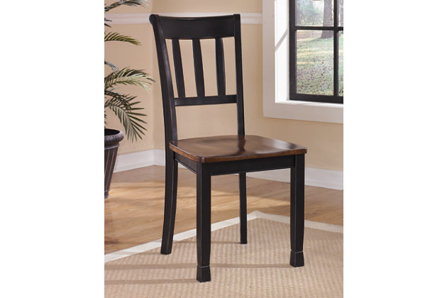 Black Brown Owingsville Dining Room Chair View 1